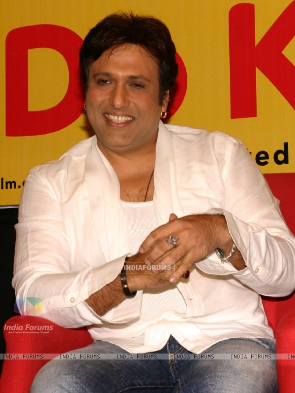 "Govinda at a press meet for the film ""Do Knot Disturb"" in New Delhi on Tuesday 15 Sep 09"