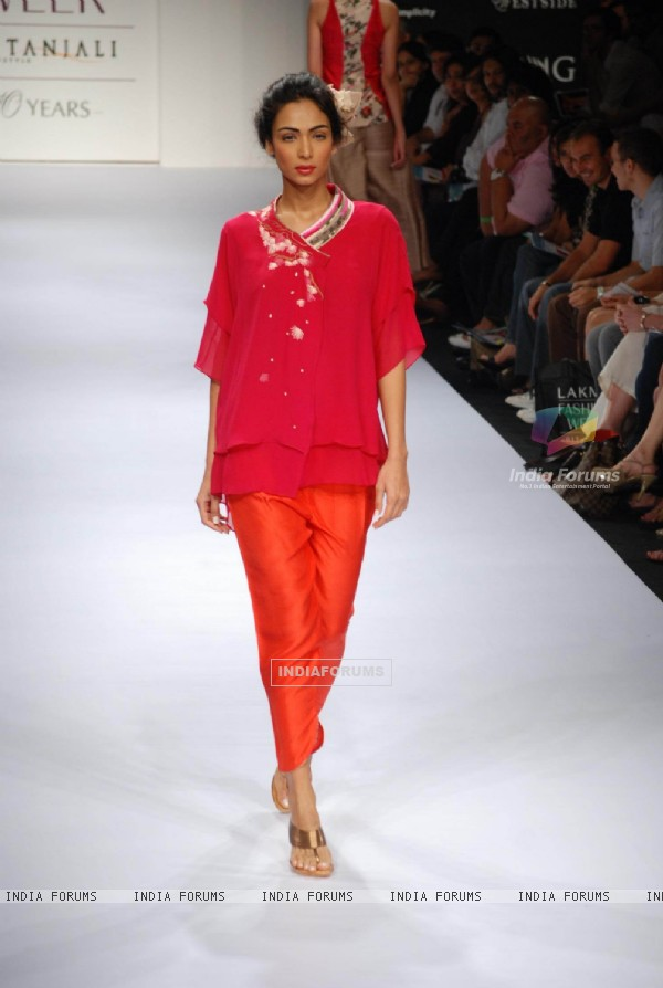 Models at the ramp of Nikasha presented diverse fashion stories at Lakme Fashion Week spring/summer 2010