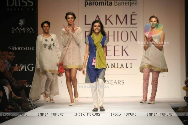 A model walks the runway at the Paromita Banerjee show at Lakme Fashion Week Spring/Summer 2010