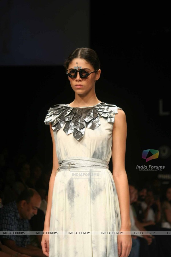 A model walks the runway at the Vivek Kumar show at Lakme Fashion Week Spring/Summer 2010