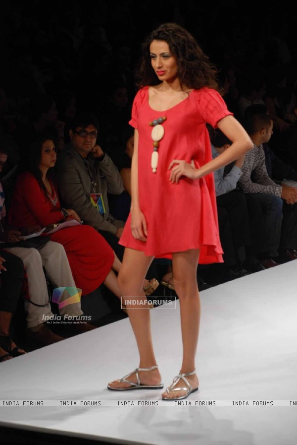 A model walks the runway at Wendell show at the Lakme Fashion Week Spring/Summer 2010 Day 5, in Mumbai