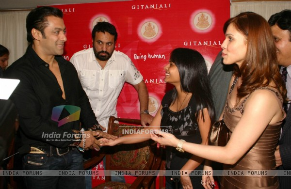 "Bollywood Aactor Salman Khan at the launch of ""Being Human"" Gold Coins in New DelhiI on Wednesday 23 Sep 2009"