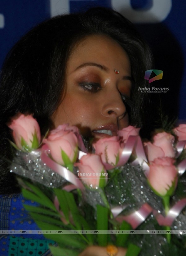 Raima Sen at the inauguration of Durga puja at North Kolkata on Thursday 24th Sept 09