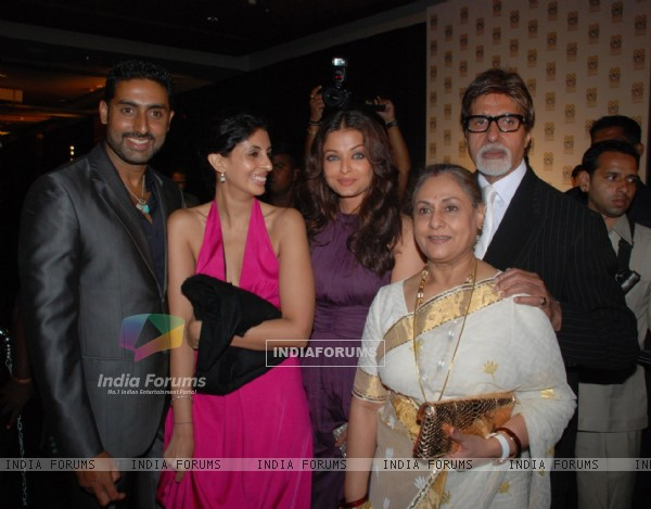 Abhishek Bachchan, Shweta Nanda, Aishwarya Rai Bachchan, Jaya Bachchan, and Amitabh Bachchan at GQ Man of the Year Award Function