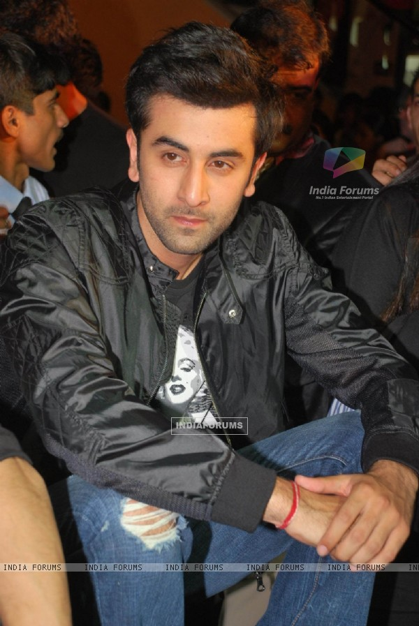 "Bollywood actor Ranbir Kapoor at his upcoming movie ""Wake up Sid"" press meet at Inorbit Mall in Mumbai"