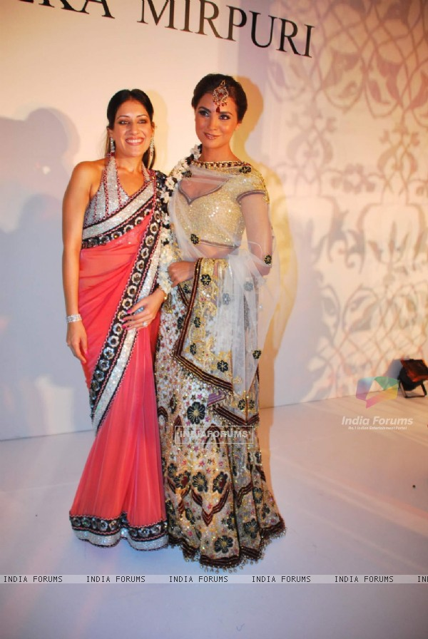 Lara Dutta walks the ramp for designer Maheka Mirpuri at Taj President in Mumbai