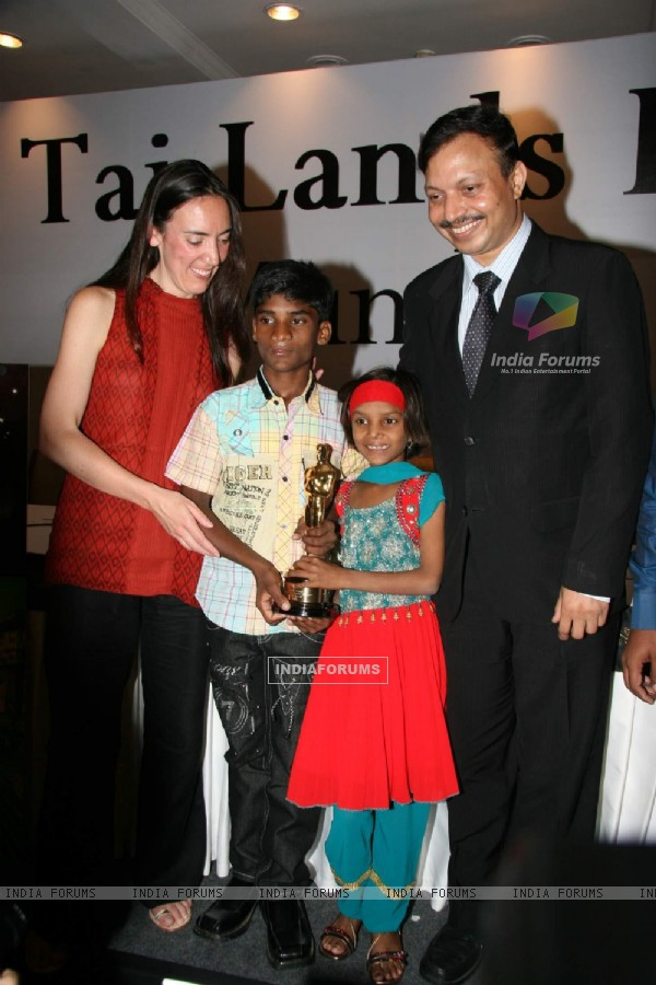 Smile Pinki film press meet at Taj land''s End in Mumbai