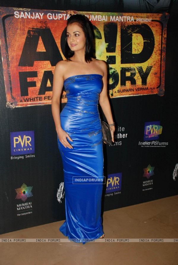 "Dia Mirza at the premiere of ""Acid Factory Film"" at PVR"