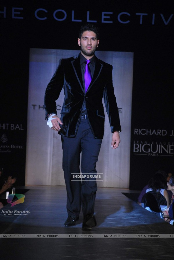 Yuvraj Singh at The Collective Show at Palladium in Mumbai