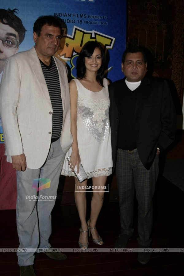 "Bollywood actors Boman Irani and Dia Mirza at a promotional event for their forthcmong movie ""Fruit N Nut"" in Mumbai"