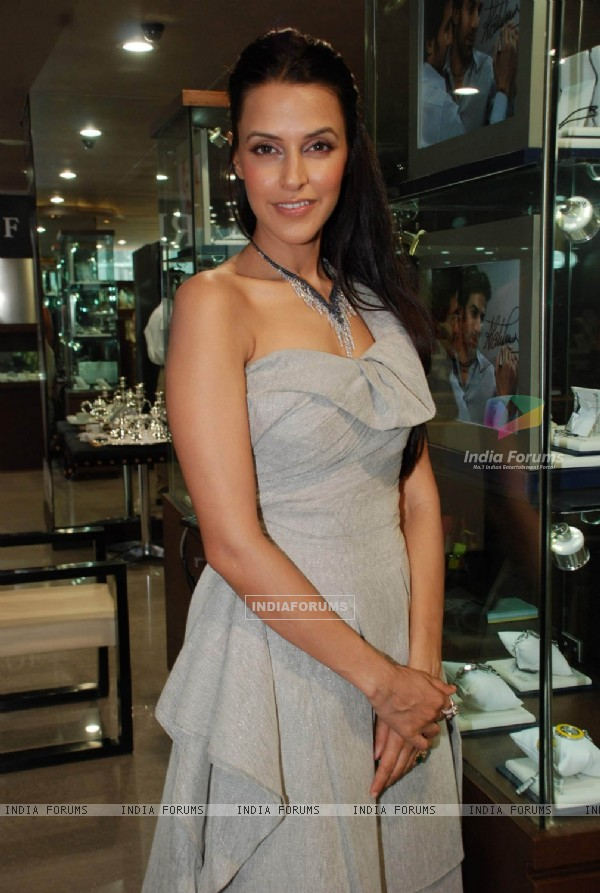 Bollywood actress Neha Dhupia at a promotional event for jewellery brand Gitanjali in Mumbai Thursday