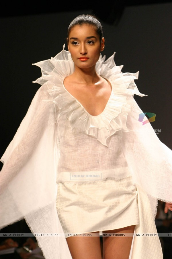 Model walk on the ramp for designer Wendell Rodricks wills lifestyle India fashion week in New Delhi on Saturday