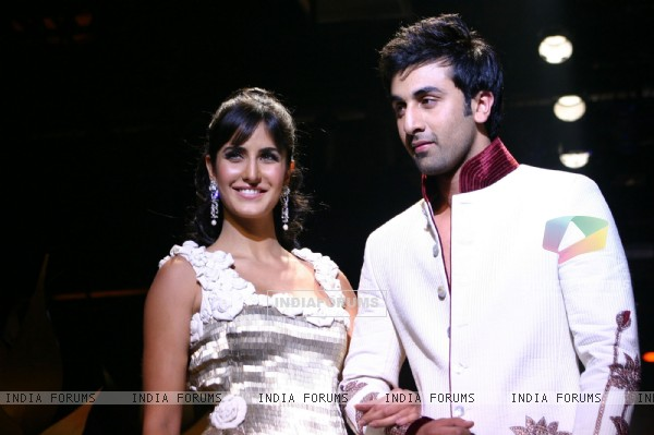 Bollywood stars Katrina Kaif and Ranbir Kapoor at the designer Rohit Bal''s grand finale at the Wills Lifestyle India Fashion Week in New Delhi on Wednesday night 28 Oct 2009