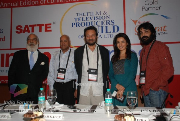 Tisca Chopra at Cinema scapes conference at Leela, Andheri, Mumbai on Wednesday