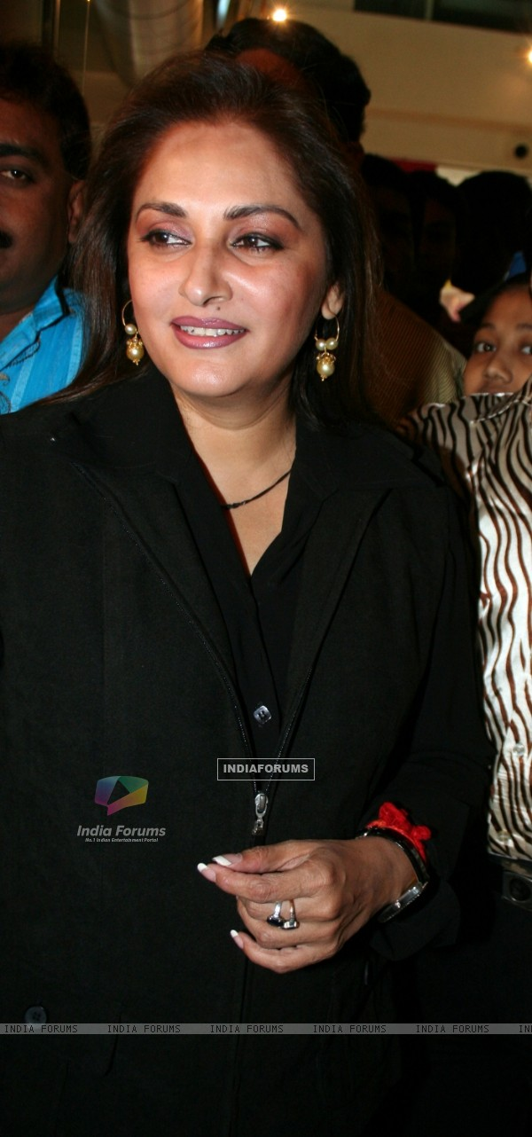 Jaya Prada watching her Bengali film Sesh Sanghat in Kolkata on Thursday