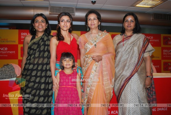 Soha Ali Khan and Sharmila Tagore at MAMI Festival, Fun Republic in Mumbai on Friday Night