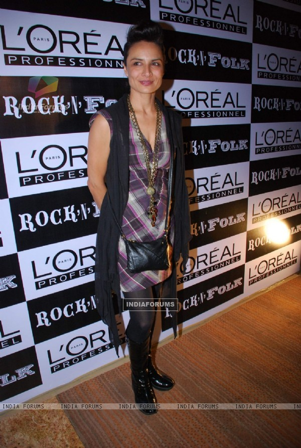 A model at the launch of the Loreal Autumn Winter Color Collection in Grand Hyatt