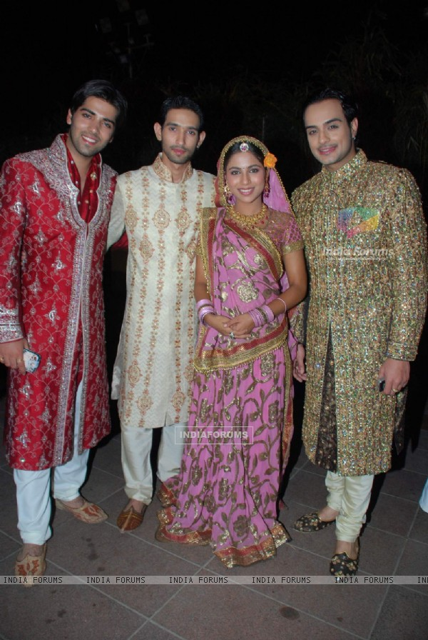 Angad,Kinshuk,Vikrant and Veebha at ITA Awards Preview Show