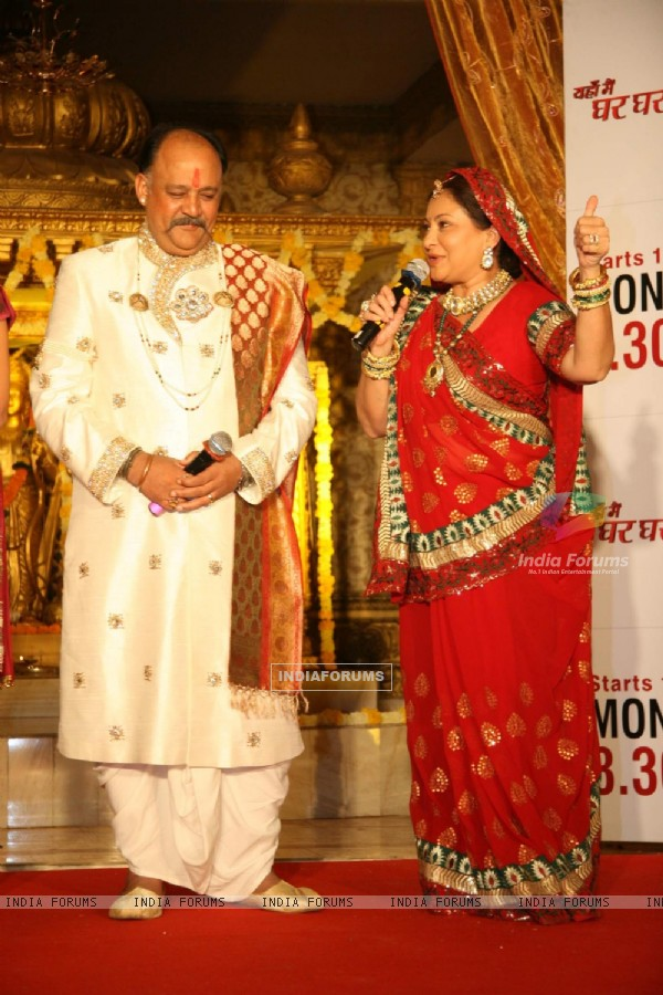Alok Nath and Smita Jaykar at Zee TV''s Yahan Mein Ghar Ghar Kheli serial music launch, Film City