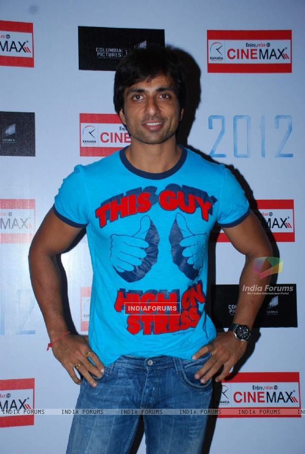 "Bollywood actor Sonu Sood at the premeire of flim Hollywood film ""2012"", Cinemax"