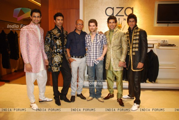 Neil Nitin Mukesh at Narendra Kumar Ahmed''s Men''s Collection launch, AZA