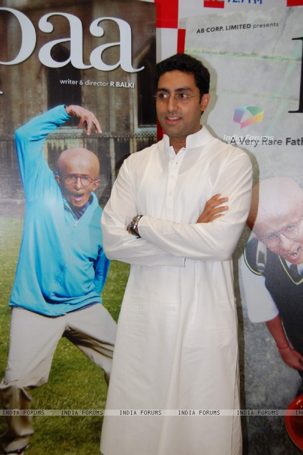 Bollywood Actor Abhishek Bachchan during the promotion of forthcoming film ''Paa'' at BIG FM 927 in Mumbai on Monday, 16 November 2009 (82184)