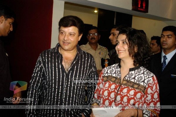 "Sachin and Supriya at the premiere of film ""Ekaant"" at Juhu, Mumbai"