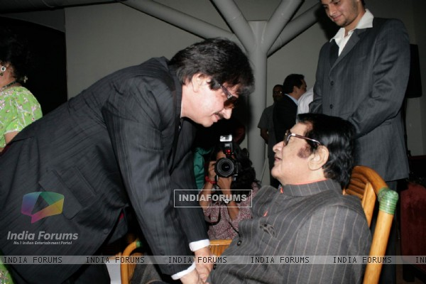 Sanjay Khan and Manoj Kumar at Lalit Intercontinental Anniversary