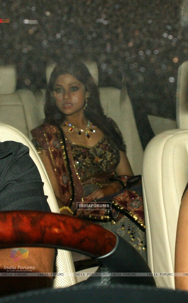 Bollywood actress Shamita Shetty at her sister''s wedding event