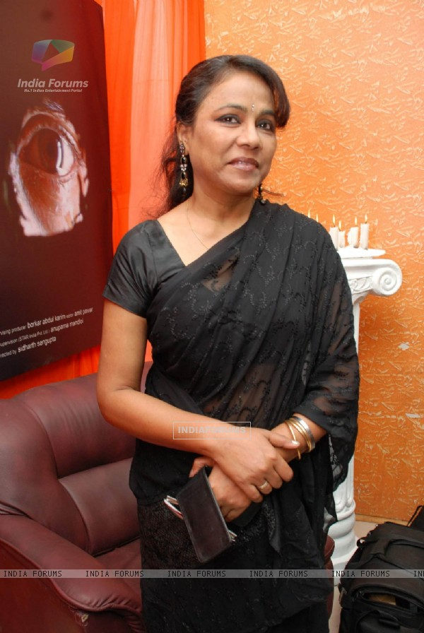 "Bollywood actress Seema Biswas on the screening of the film ""Un Hazaraon Ke Naam"" at Fun Cinemas in Mumbai"