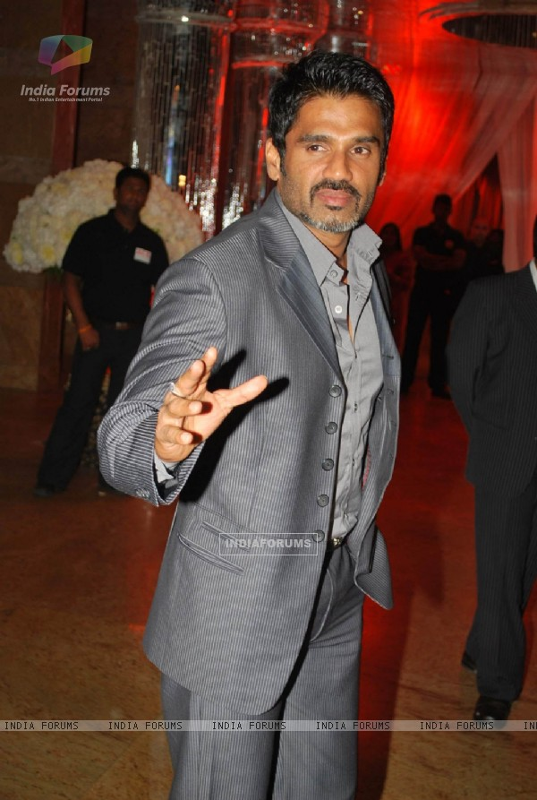 Sunil Shetty at the Shilpa Shetty''s wedding reception