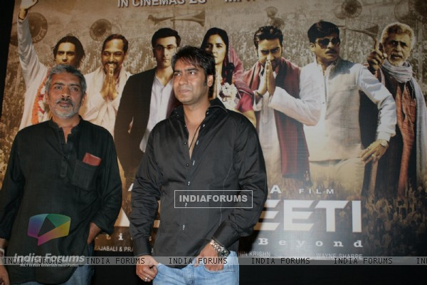 "Ajay Devgan at a press meet of film ""Rajneeti"" in Mumbai"