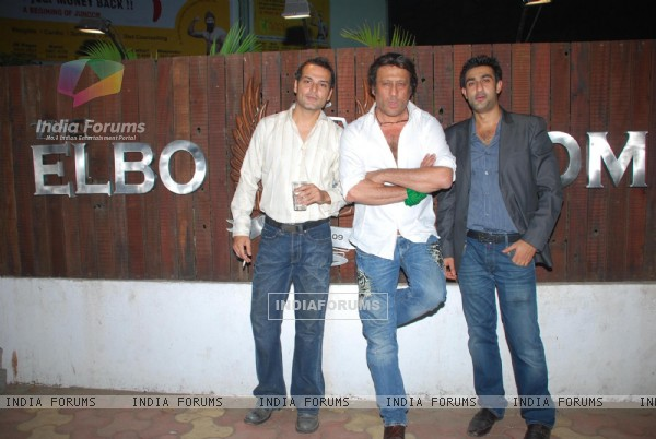 Jackie Shroff with Nicolo and Saahil Zaroo at Sahil Zaroo''s birthday bash at Elbow Room