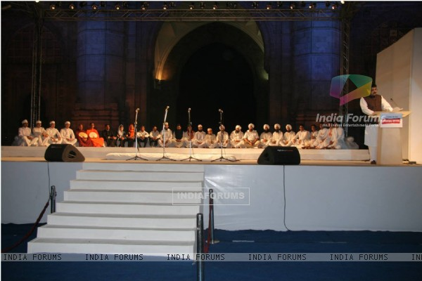 Guest at 26/11 gateway of india event