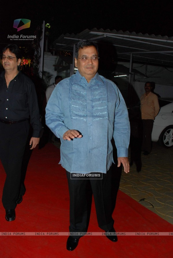 Subhash Ghai at Isha Koppikar''s wedding reception