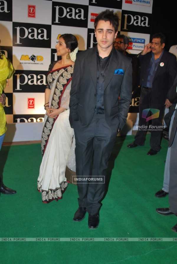 "Bollywood actor Imran Khan at the premiere of film ""Paa"""