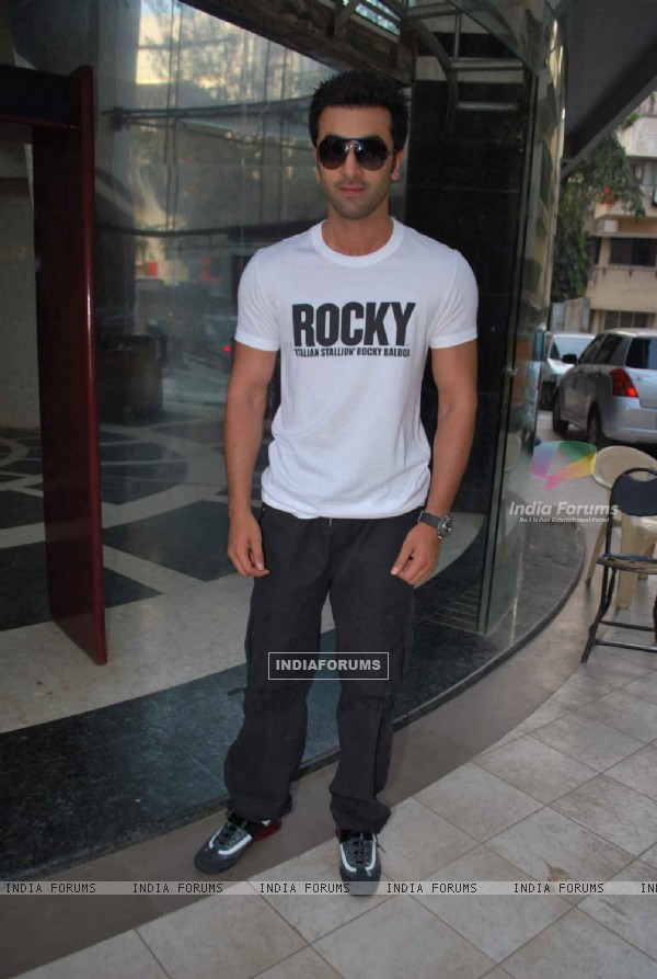Ranbir at the launch of Bosco Ceasar dance academy at Bandra