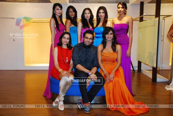 Models in the dresses designed by designer Swapnil Shinde at AZA