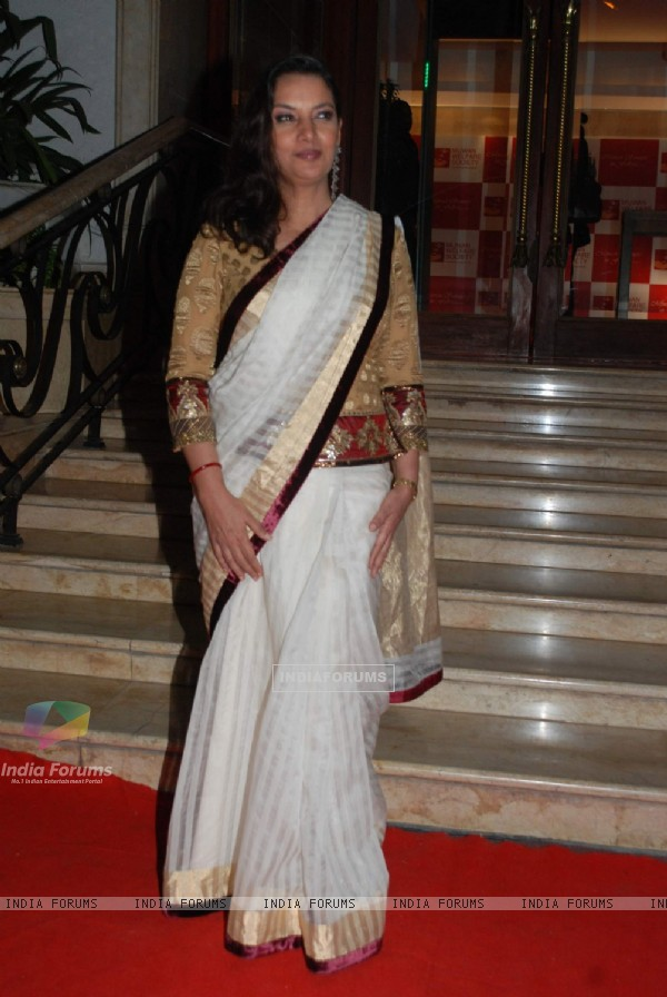 "Bollywood actress Shabana Azmi attending event ""A Tribute to Kaifi Azmi Mijwan"" in Mumbai"