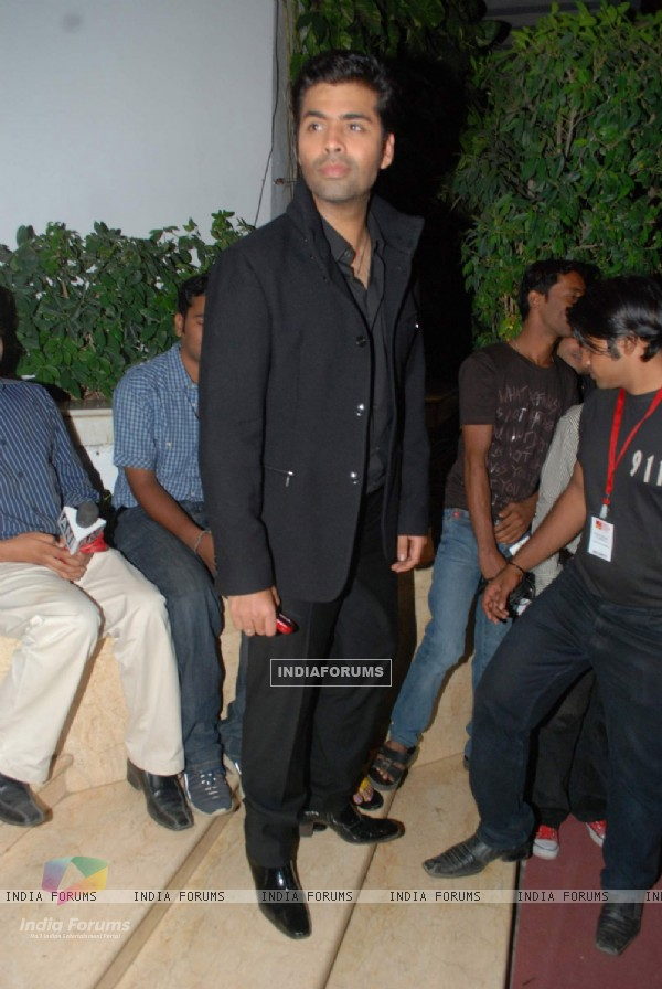 "Film maker Karan Johar attending event ""A Tribute to Kaifi Azmi Mijwan"" in Mumbai"