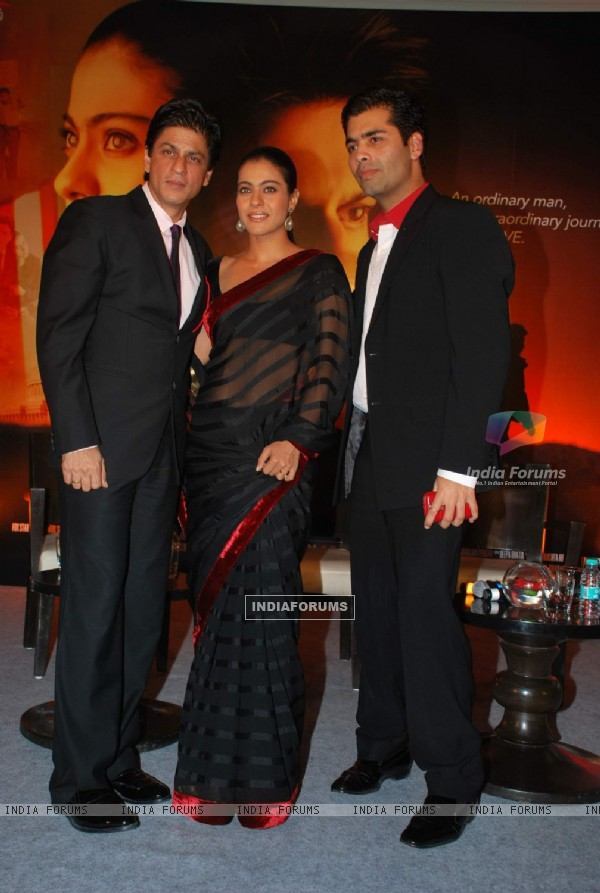 "Bollywood actors Shah Rukh Khan and Kajol at ""My Name Is Khan Press Meet"" at JW Marriott"
