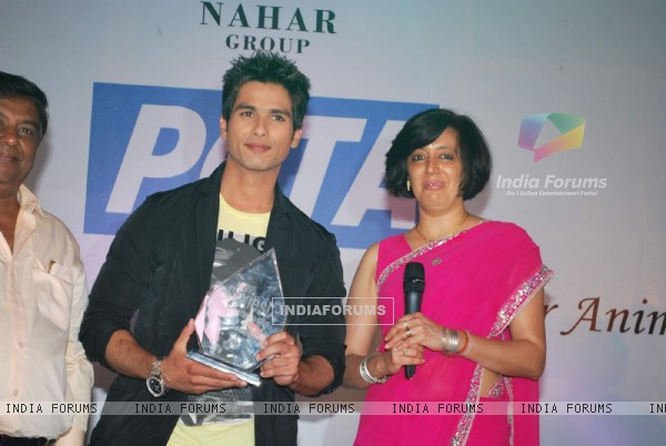 "Bollywood actor Shahid Kapoor at ""PETA Awards"""