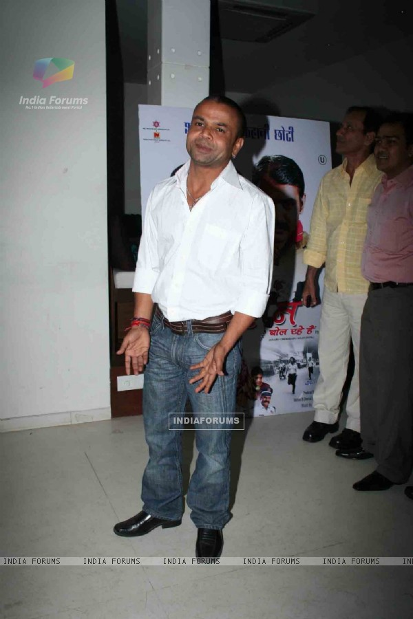 "Bollwood comedian Rajpal Yadav at the music launch of ""Hum Lallan Bol Rahe Hai"" at Puro, Bandra, Mumbai"