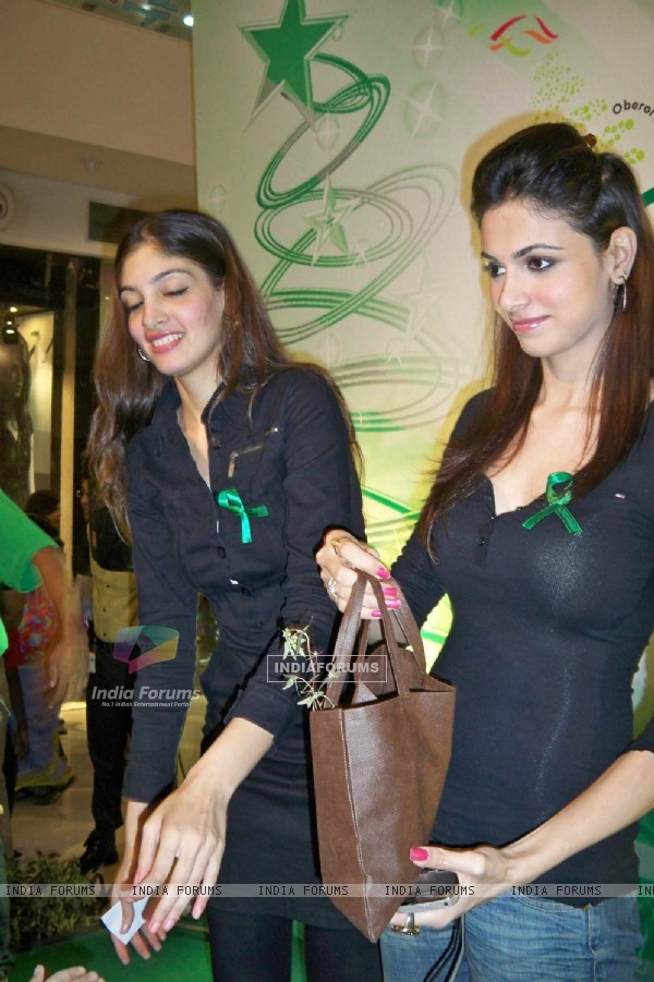 Simran Kaur and Dimple Patel at Oberoi Mall