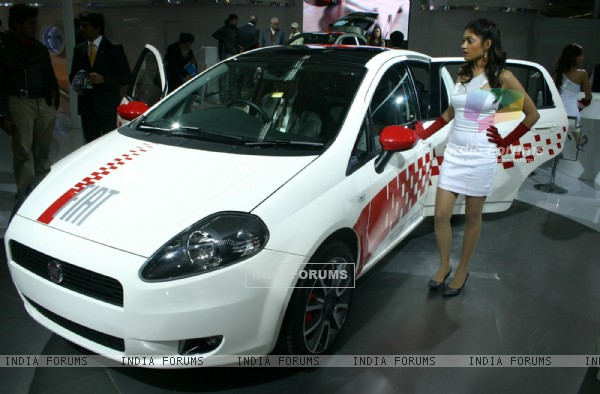 New Delhi,05 Jan 2010- Fiat at the ''''10 th Auto Expo 2010'''', in New Delhi on Teusday