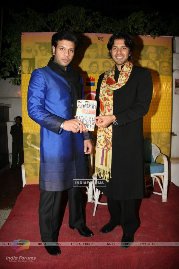 "Ayaan and Aman Ali Khan''s book launch of ""50 Maestros Recordings"" at Olive"