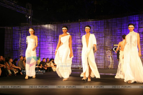 Models walking at designer Wendell Rocdericks Show at Chivas Tour at Grand Hyatt