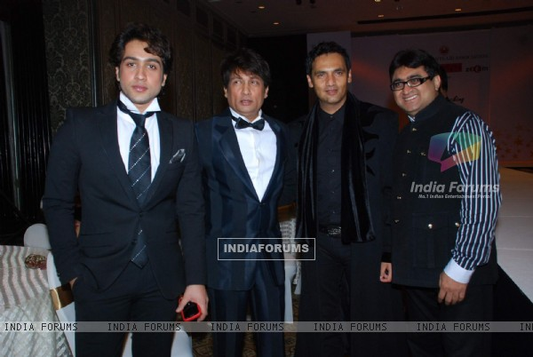 Adhyayan Suman, Shekhar Suman and Marc Robinson at CPAA fashion show at Taj Hotel