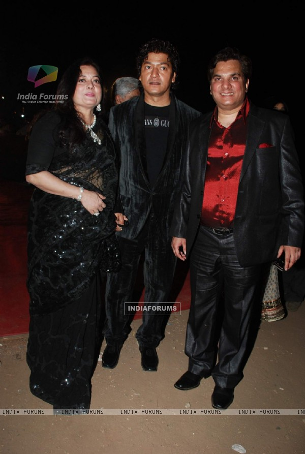 Aadesh Srivastava and Lalit Pandit at star Screen Awards red carpet