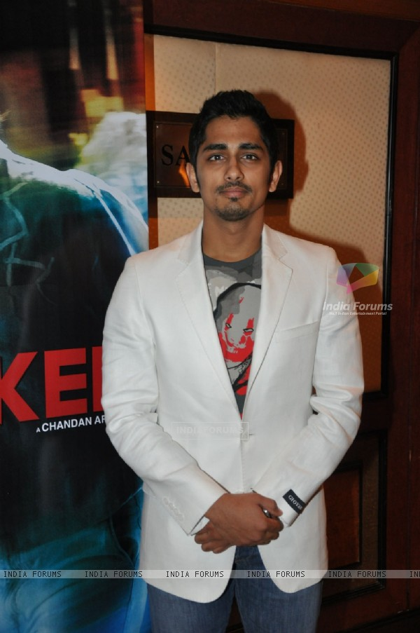 "Bollywood actor Siddharth at the music launch of ""Striker"" in Mumbai"